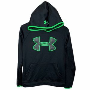 Under Armour Black Green Youth Hoodie Sz YL